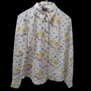 Versus Gianni Versace Cherub Angel Silk Shirt E3